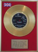 "THE ANIMALS - 24 Carat Gold 7"" Disc - THE HOUSE OF THE RISING SON"
